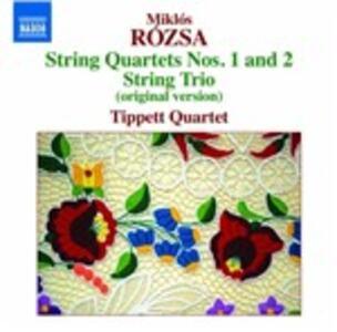 Quartetti per archi n.1, n.2 - Trio per archi - CD Audio di Miklos Rozsa