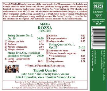 Quartetti per archi n.1, n.2 - Trio per archi - CD Audio di Miklos Rozsa - 2