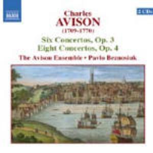 6 Concerti op.3 - 8 Concerti op.4 - CD Audio di Charles Avison