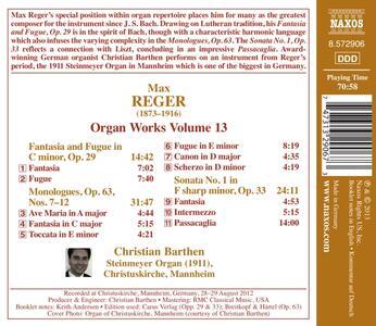 Opere per organo vol.13 - CD Audio di Max Reger - 2