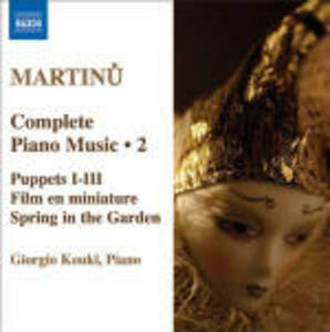 Opere per pianoforte vol.2 - CD Audio di Bohuslav Martinu