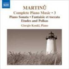 Sonata per pianoforte - Fantasia e toccata - Studi - Polke - CD Audio di Bohuslav Martinu