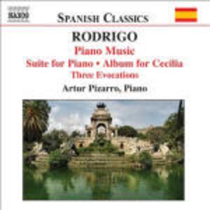Opere per pianoforte vol.2 - CD Audio di Joaquin Rodrigo,Artur Pizarro
