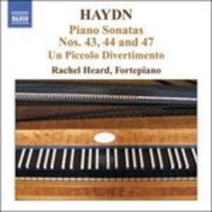 Sonate per pianoforte n.43, n.44, n.47 - CD Audio di Franz Joseph Haydn,Raschel Heard