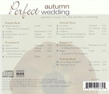 Perfect Autumn Wedding - CD Audio