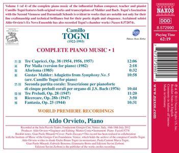 Opere per pianoforte vol.1 - CD Audio di Camillo Togni - 2
