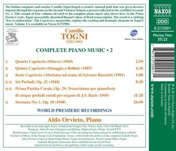 Opere per pianoforte vol.2 - CD Audio di Camillo Togni - 2