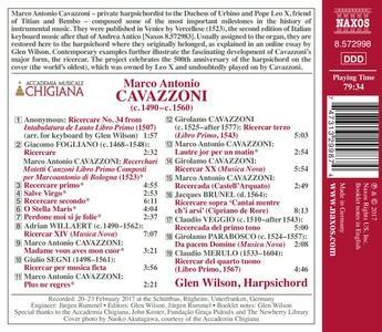 Integrale delle opere - Ricercari Italiani - CD Audio di Glen Wilson,Marco Antonio Cavazzoni - 2