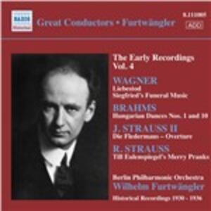 Till Eulenspiegel Lustige Streiche / Musica orchestrale da opere / Danza ungherese - CD Audio di Johannes Brahms,Richard Strauss,Richard Wagner,Wilhelm Furtwängler,Berliner Philharmoniker