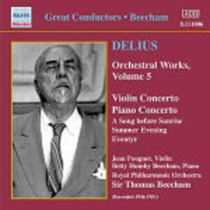 Concerto per violino - Concerto per pianoforte - Eventyr - CD Audio di Sir Thomas Beecham,Frederick Delius,Royal Philharmonic Orchestra