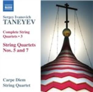 Quartetti per archi vol.3 - CD Audio di Sergei Ivanovich Taneyev