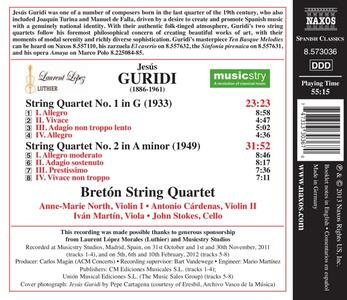 Quartetti per archi - CD Audio di Jesus Guridi - 2