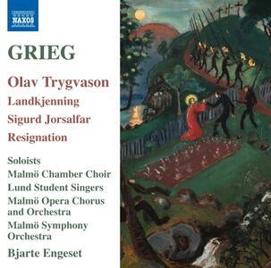 Olav Trygvason - Sigurd Jorsalfar - CD Audio di Edvard Grieg