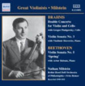 Doppio Concerto - Sonata per violino n.3 / Sonata per violino n.5 - CD Audio di Ludwig van Beethoven,Johannes Brahms,Fritz Reiner,Nathan Milstein,Gregor Piatigorsky