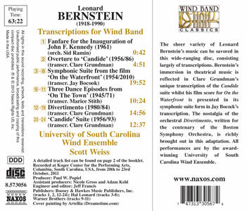 Transcriptions For Wind B - CD Audio di Leonard Bernstein - 2