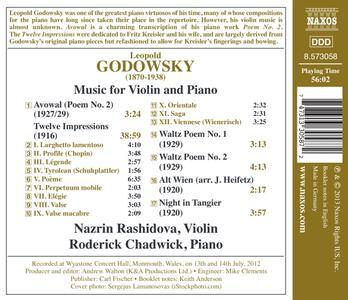 Musica per violino e orchestra - CD Audio di Leopold Godowsky - 2