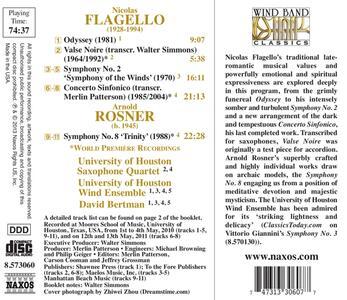 Sinfonia n.2 Symphony of the Winds - CD Audio di Nicolas Flagello - 2