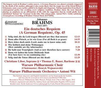 Un Requiem tedesco (Ein Deutsches Requiem) - CD Audio di Johannes Brahms,Antoni Wit - 2