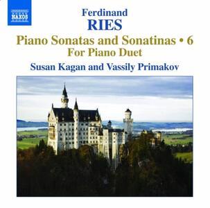 Sonate e sonatine per 2 pianoforti - CD Audio di Ferdinand Ries