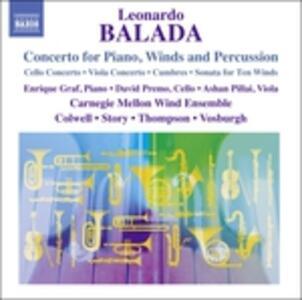 Concerto per pianoforte, fiati e percussioni - CD Audio di Leonardo Balada