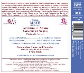 Arianna a Nasso - CD Audio di Johann Simon Mayr - 2