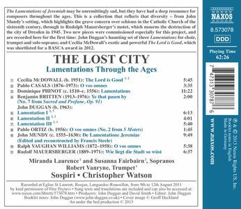 The Lost City. Le Lamentazioni di Geremia Nella Storia - CD Audio - 2