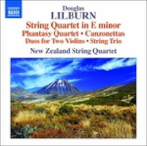 Quartetto per Archi in Mi Minore - Trio per Archi - 2 Duo per 2 Violini - CD Audio di Douglas Lilburn