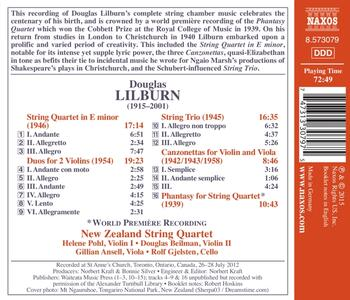 Quartetto per Archi in Mi Minore - Trio per Archi - 2 Duo per 2 Violini - CD Audio di Douglas Lilburn - 2