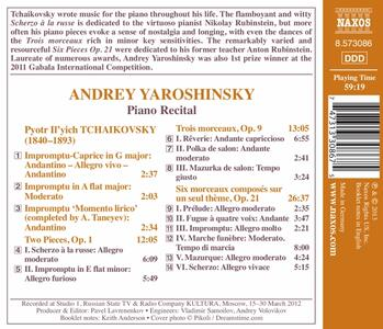 Impromptus-Two Pieces Op. - CD Audio di Pyotr Il'yich Tchaikovsky - 2