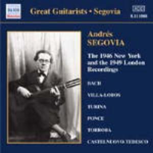 New York 1946 and 1949 - CD Audio di Andrés Segovia