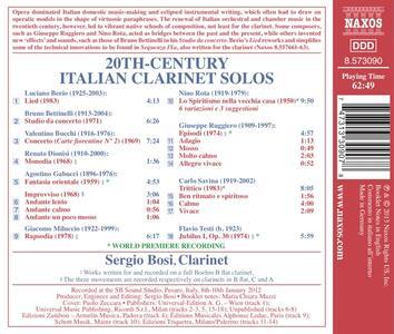 Opere per clarinetto solo del 900 italiano - CD Audio di Sergio Bosi - 2