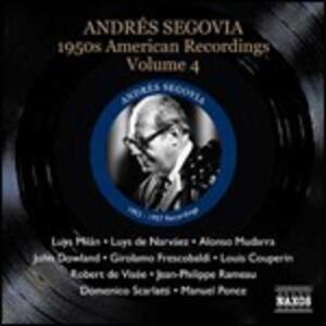 American Recordings vol.4 1950 - CD Audio di Andrés Segovia