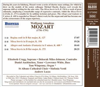 Missa Brevis K194 - Missa Brevis K275 - CD Audio di Wolfgang Amadeus Mozart - 2