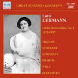 Lieder Recordings vol.1 1935-1937 - CD Audio di Lotte Lehmann