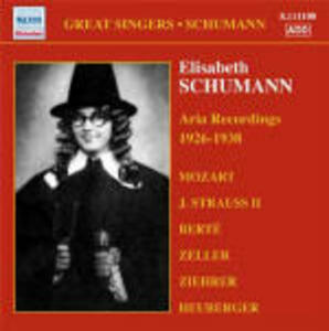 Mozart and Viennese Operetta Aria Recordings 1926-1938 - CD Audio di Orchestra dell'Opera di Stato di Vienna,Elisabeth Schumann