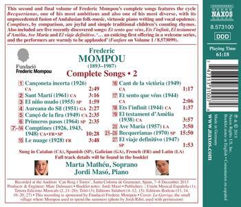 Liriche da Camera vol.2 - CD Audio di Frederic Mompou - 2