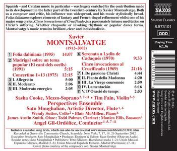 Madrigal sobre un tema popular - Cinco invocaciones al Crucificado - Folia daliniana - Concertino - Serenata a Lydia de Cadaqués - CD Audio di Xavier Montsalvadtge - 2