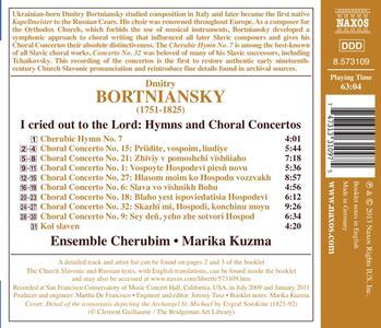 I Cried Out to the Lord. Inni e concerti corali - CD Audio di Dmitry Bortniansky - 2