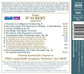 Opere orchestrali - CD Audio di Eugen D'Albert,Jun Märkl - 2