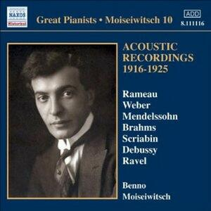 Acoustic Recordings 1916-1925 - CD Audio di Benno Moisejwitsch