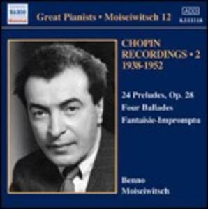 Preludi - Ballate - Fantasia-Improvviso - CD Audio di Fryderyk Franciszek Chopin,Benno Moisejwitsch