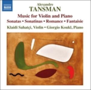 Musica per violino e pianoforte - CD Audio di Alexandre Tansman