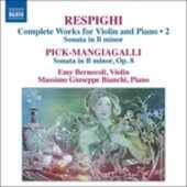 CD Opere per violino e pianoforte Ottorino Respighi
