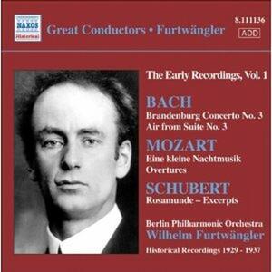 Concerto brandeburghese n.3 - Aria sulla IV corda / Eine Kleine Nachtmusik / Rosamunde (Selezione) - CD Audio di Johann Sebastian Bach,Wolfgang Amadeus Mozart,Franz Schubert,Wilhelm Furtwängler,Berliner Philharmoniker