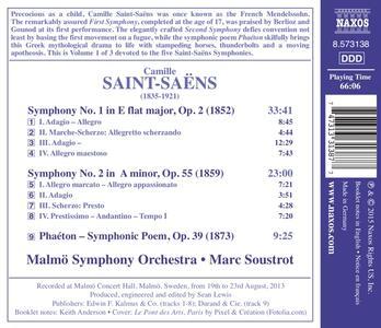 Sinfonie N.1, N.2 - CD Audio di Camille Saint-Saëns,Marc Soustrot - 2