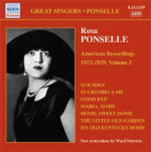 American Recordings vol.2 1923-1929 - CD Audio di Rosa Ponselle