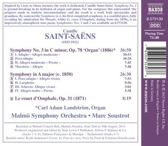 Sinfonia n.3 op.78 - Sinfonia in La minore - CD Audio di Camille Saint-Saëns,Malmö Symphony Orchestra,Marc Soustrot - 2