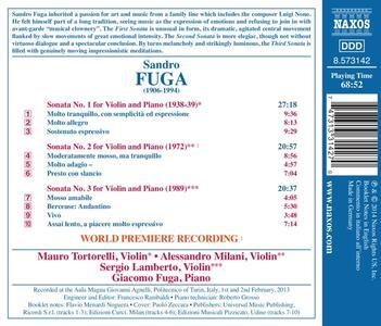 Sonate per violino e pianoforte - CD Audio di Sandro Fuga - 2