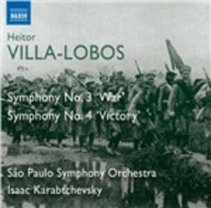 Symphony No.3 & 4 - CD Audio di Heitor Villa-Lobos