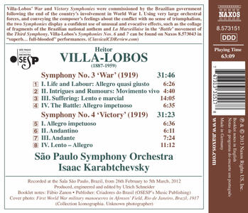 Symphony No.3 & 4 - CD Audio di Heitor Villa-Lobos - 2